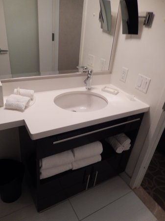 Genial Staybridge Suites Times Square   New York City: Wash Basin And Hair Dryer  In Cabinet