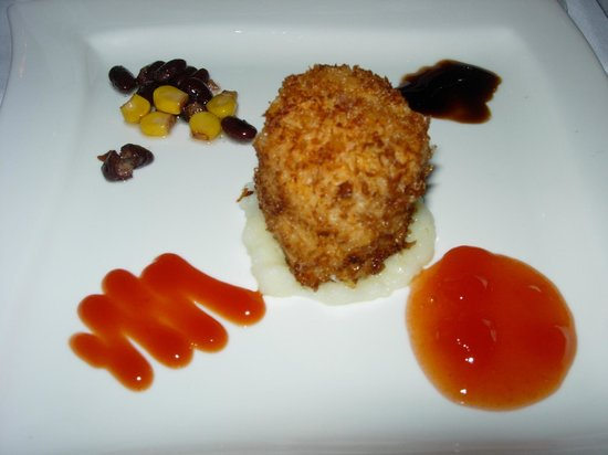Sandals Whitehouse: Devilled crabcake (Eleanors)