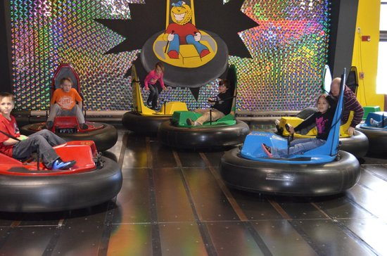 Funopolis Family Fun Center: bumper cars are a great time!
