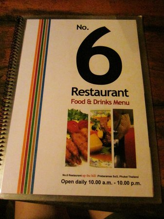 No. 6 Restaurant: Go up the hill~