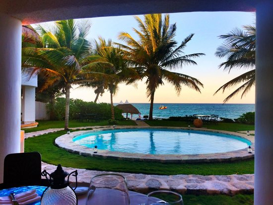 Pavo Real by the Sea: View from our table!