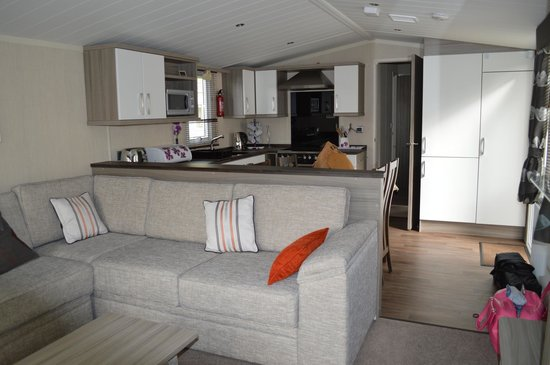 Burnham on Sea Holiday Park - Haven: Platinum caravan living area & kitchen