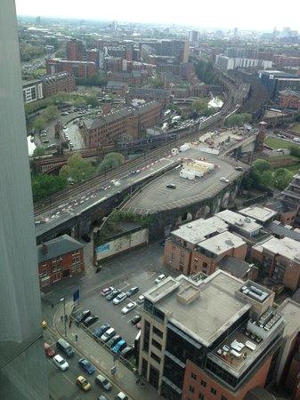 Hilton Manchester Deansgate: Presidential suite one of the views from the day time