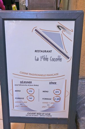La P'tite Cocotte: 3 course set lunch for 17 Euro!