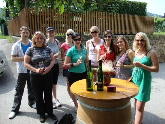 Discover Vienna Tours : A group pic from 2003, the first year of the Grape Grazing Winery BIke Tour