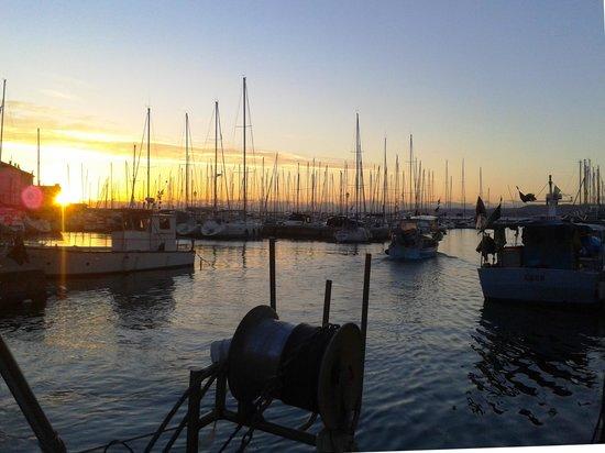 Trattoria Risorta: Der Hafen von Muggia