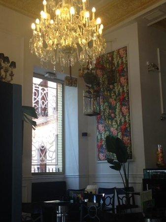 Hotel Adriano Sevilla: Interior de la cafetería Adriano