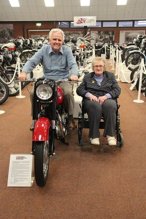 National Motorcycle Museum: my mother and father