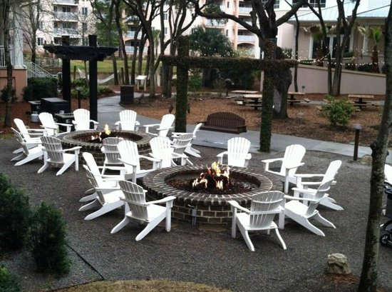 Marriott's SurfWatch: campfire pit area