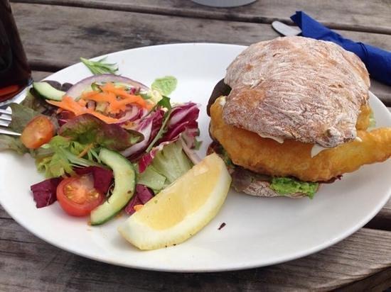 The Bell Inn: Smoked Cod Finger Sandwich