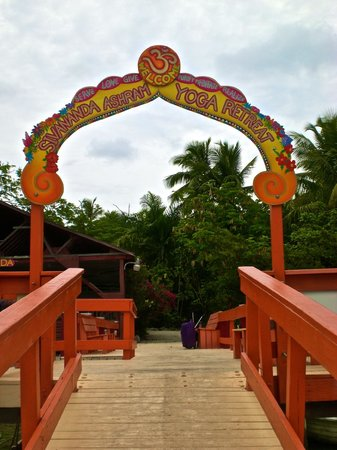 Sivananda Ashram Yoga Retreat: The enterance gate