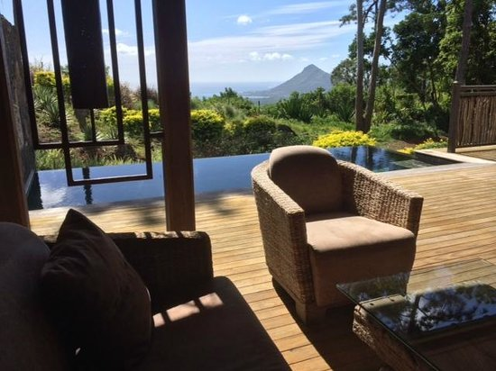 Lakaz Chamarel Exclusive Lodge: Ausblick seaview suite