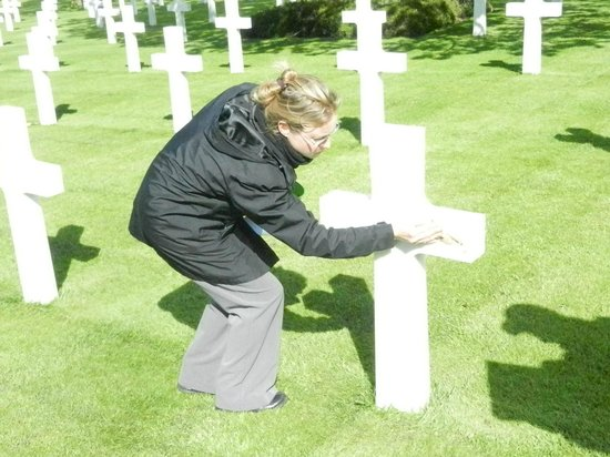 Normandy D Day Tours: Ceremony at the Cemetery