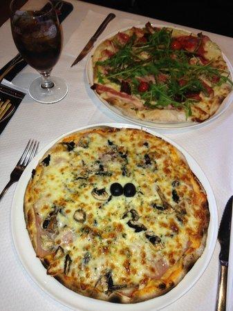 Pizzeria La Trebbia: pizza regina y bruce