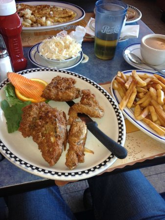 Blue Colony Diner: My chicken, cole slaw and fries.....