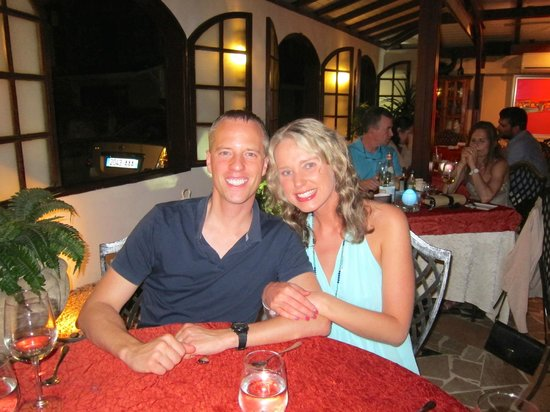 La Villa Restaurant: My husband and I at our table