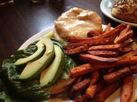Poultney, VT: Sweet potato veggie burger
