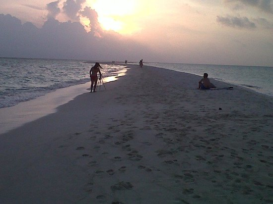 Kuramathi Island Resort: Le banc de sable à la pointe Nord