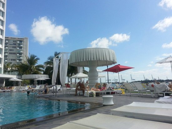 Mondrian South Beach Hotel: Pool over looking the Bay
