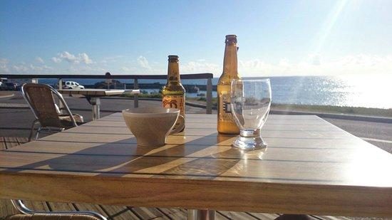Creperie La Mariniere : Un petit verre en terrasse.