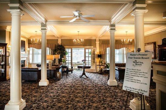 The Bethel Inn Resort : Newly remodeled lobby in the Main Inn