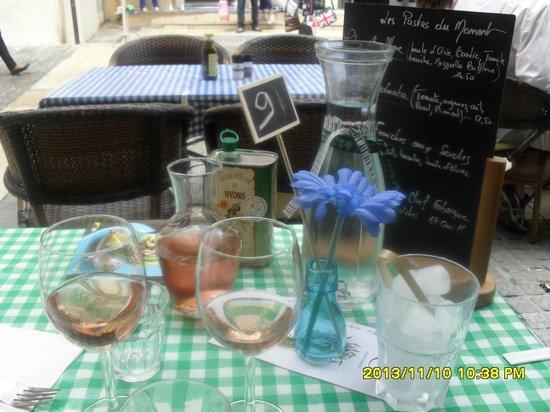 Casa Castagno : Notre table le 20052014 car appareil photo pas a la bonne date