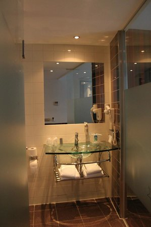 WestCord City Centre Hotel Amsterdam : Our bathroom, small but workable