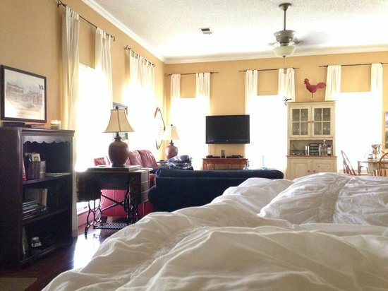 Southern Rose Ranch: View from the Star Room Bed!