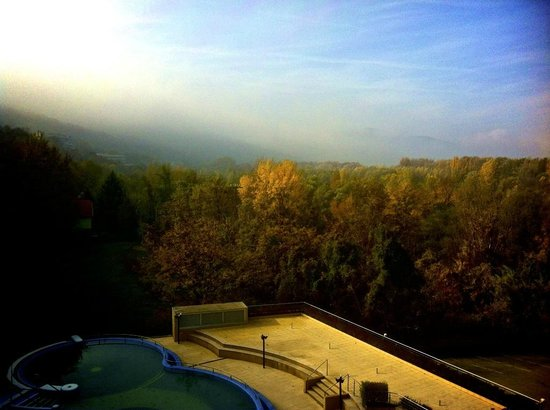 Thermal Hotel Visegrad: The view from our room