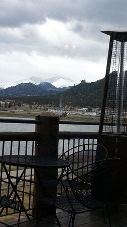 The Estes Park Resort: View from restaurant deck.