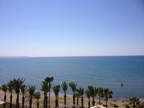 Golden Bay Beach Hotel: one can dream upon this view