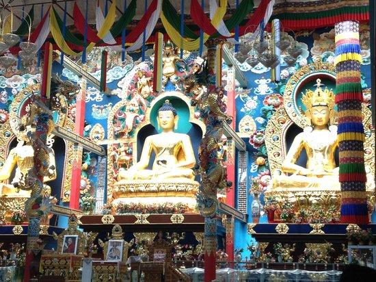 Namdroling Nyingmapa Monastery: interior of the temple
