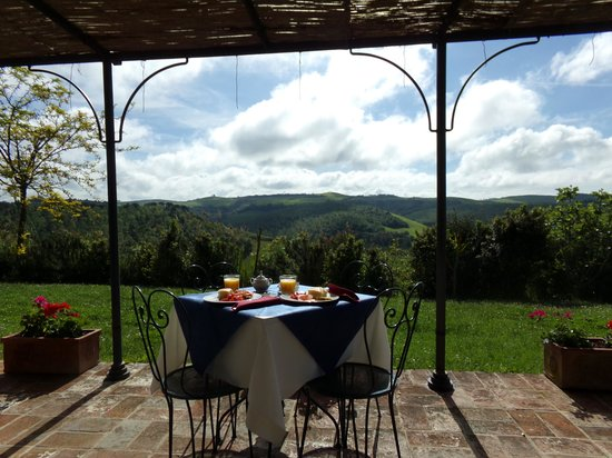 Podere Salicotto: Breakfast each morning