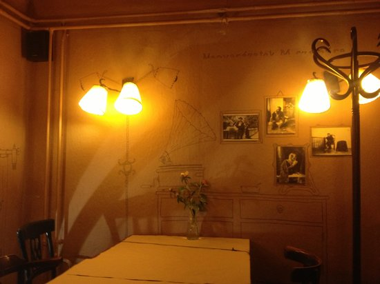 M. Restaurant: On the wall