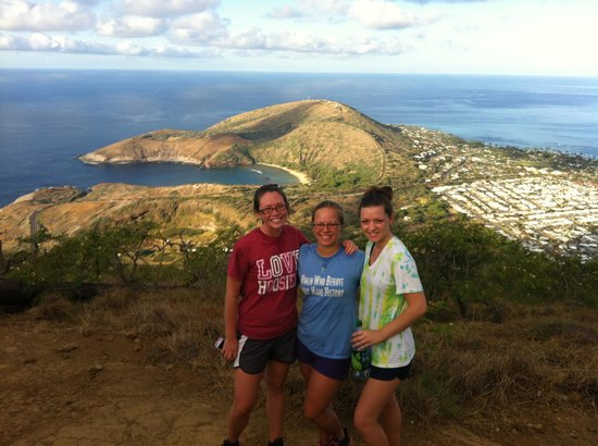 Koko Crater Trail: My friends and I at the top
