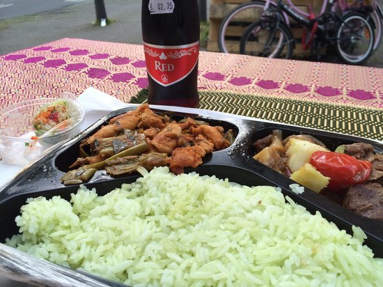 Irawaddy: Massaman, pandan rice, wine cooler or something, thai fresh spring roll and another delicious di