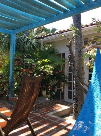 Boardwalk Hotel Aruba: View from my hammock