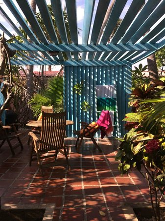 Boardwalk Hotel Aruba: View from casita to patio
