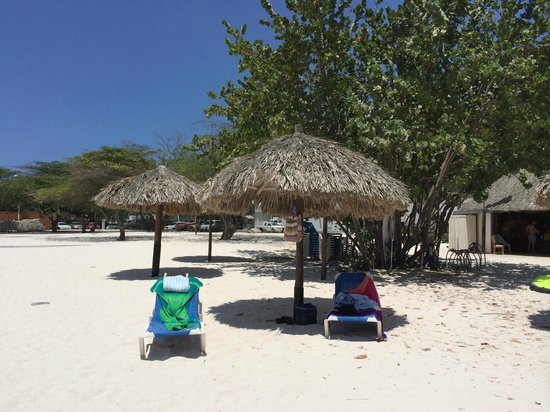 "Boardwalk Hotel Aruba: Our ""camp"" by Vela's"