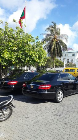 Mulee Aage: Our president car and wise-president car infront of president jetty .