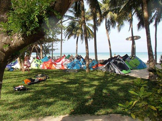 Kenyaways Beach Bed & Breakfast: Kiteparking!!!