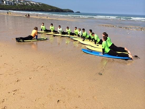 The Escape Surf School: being taught some signature moves