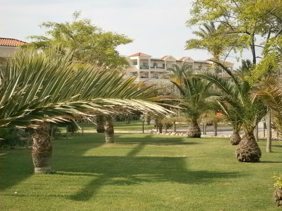 Lindos Princess Beach Hotel: Espace autour des bungalows