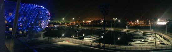 Yas Viceroy Abu Dhabi: View from our room by night