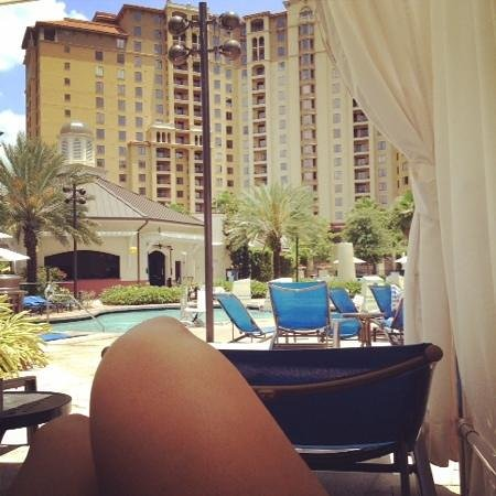Wyndham Grand Orlando Resort Bonnet Creek: Cabana time, what a view!