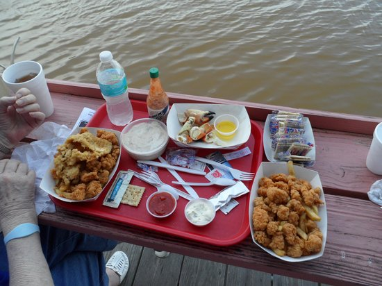 City Seafood : Gator nuggets and stone crab claws
