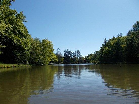 Le Moulin de la Jarousse : balade en canoë sur l'étang