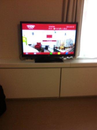 Thon Hotel EU: Flat tv