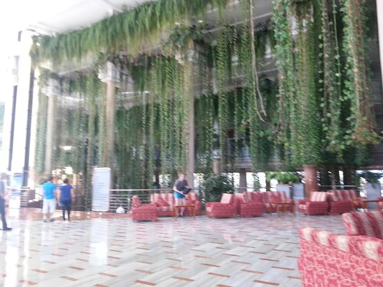 Be Live Experience Playa La Arena : vue du hall, impressionnant balcon végétalisé