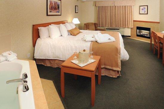 Rosslyn Inn and Suites: Jacuzzi Room Bedroom